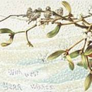 Mistletoe In The Snow Print by English School