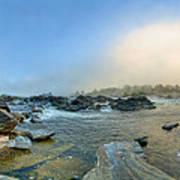 Mists Of Great Falls Art Print