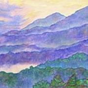 Misty Blue Ridge Art Print