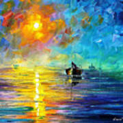 Misty Calm - Palette Knife Oil Painting On Canvas By Leonid Afremov Art Print