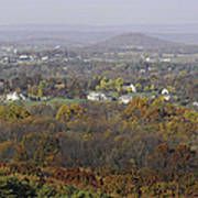 Misty Fall Pano Of The Shenandoah Valley Art Print