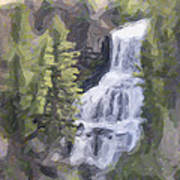 Misty Falls Art Print by Jo-Anne Gazo-McKim