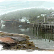 Misty Harbor Art Print