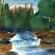 Misty Morning Brook In Hudson Valley Art Print