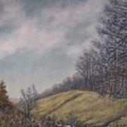 Misty Mountain Valley Art Print