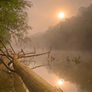 Misty Sun Art Print