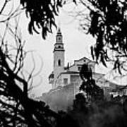 Misty View Of Monserrate Church Art Print
