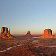 Mittens And Merrick Butte Monument Valley Art Print