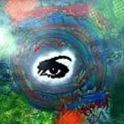Mixed Media Abstract Post Modern Art By Alfredo Garcia Eye See You Art Print