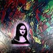 Mixed Media Abstract Post Modern Art By Alfredo Garcia Mona Lisa 2 Art Print