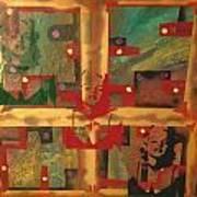 Mixed Media Abstract Post Modern Art By Alfredo Garcia The Blond Bombshell 3 Art Print