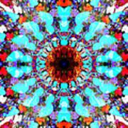 Mixed Media Mandala 1 Art Print