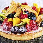 Mixed Tropical Fruit Tart Art Print