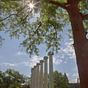 Mizzou Columns Sunflare Art Print