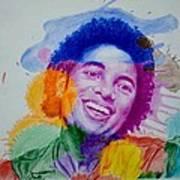 Mj Color Splatter Art Print by Sruthi Murali
