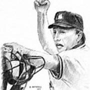 Mlb Umpire  Phil Cuzzi Art Print