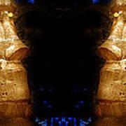 Moai Gold Art Print