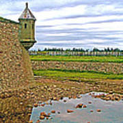 Moat And Wall Around Fortress In Louisbourg Living History Museum-ns Art Print