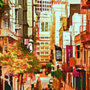 Mocca On Maiden Lane Art Print by Bill Gallagher