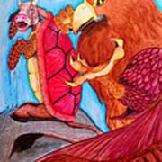 Mock Turtle And Griffon Art Print