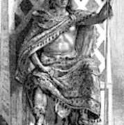 Moctezuma II, Ninth Tlatoani, Aztec Art Print