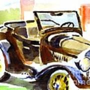 Model A In September Sunshine Art Print