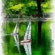 Model Boat Basin Central Park Art Print