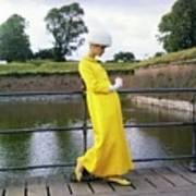 Model Wearing A Mollie Parnis Coat Art Print