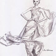 Modeling A Dress Art Print