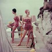 Models Wearing Bathing Suits In Palermo Art Print