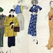 Models Wearing Schiaparelli Art Print
