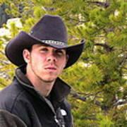 Modern Day Cowboy Art Print