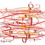 Modern Drawing Seventy Art Print