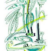 Modern Drawing Sixty-four Art Print