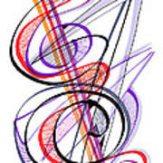 Modern Drawing Sixty-two Art Print