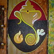 Mixed Media Ganesha Art Print
