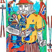 Modern King O' Clubs Art Print