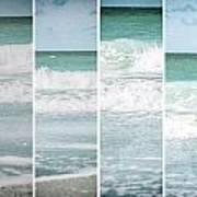 Modern Ocean Quad  Art Print