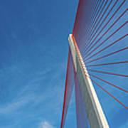 Modern Suspension Bridge Art Print