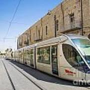 Modern Tram In Jerusalem Israel Art Print