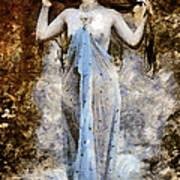 Modern Vintage Lady In Blue Art Print