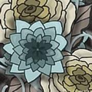 Modern Water Lily Art Print