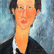 Modigliani's Chaim Soutine Up Close Art Print