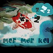Moe Moe Koi Art Print by Wendy Wiese