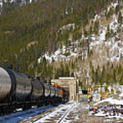Moffat Tunnel East Portal At The Continental Divide In Colorado Art Print