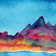 Mohave Mountains Art Print