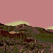 Mojave Desert In Mauve Art Print by Sharon McLain