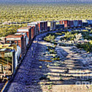 Mojave Desert Train By Diana Sainz Art Print