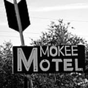 Mokee Motel Sign Circa 1950 Art Print