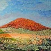 Mole Hill Flaunting Autumn- SOLD Art Print